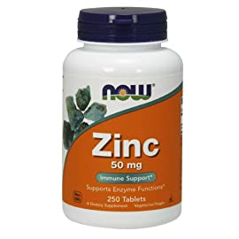 NOW Zinc Gluconate 50mg,250 Tablets