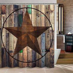 Texas Star Shower Curtain