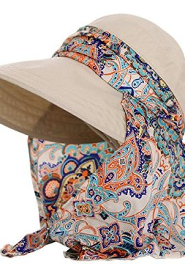 50b2783f0e4 Lanzom Women Lady Wide Brim Cap Visor Hats UV Protection Summer Sun Hats