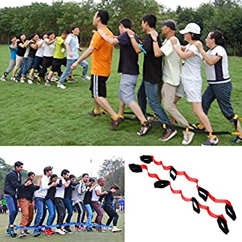 Image result for Everydlife 5 Legged Race Bands Outdoor Activities Games for Kids Adults Families Birthday Party Outside Childrens Team Game (5 Legged)