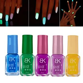 Binmer(TM) 5 PCS Candy Fluorescent Neon Luminous Gel Nail Polish for Glow in Dark Nail Varnish