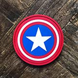 NEO Tactical Gear Captain America Marvel PVC Rubber Tactical Cosplay Crossfit Morale Patch - Hook Backed