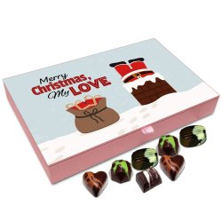 Chocholik Christmas Gift Box – Merry Christmas My Love Chocolate Box – 12pc