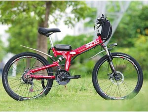 HJHJ Electric folding mountain bike 21 speed