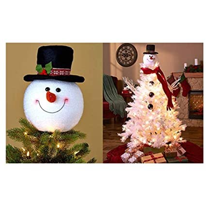 Frosty Snowman Top Hat Christmas Tree Topper Decor Holiday Winter Wonderland Decoration By Knl
