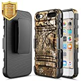 NageBee for iPod Touch 7 Case, iPod 6/5 Case w/ [HD Screen Protector] Belt Clip Holster Heavy Duty Armor Shockproof Kickstand Combo Rugged Case for Apple iPod Touch 5th / 6th / 7th Generation -Camo