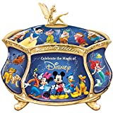 Bradford Exchange Disney Heirloom Music Box w/ 22K Gold Accent Plays When You Wish Upon A Star