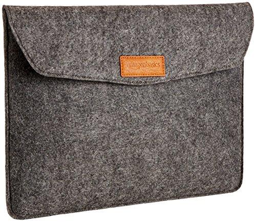 AmazonBasics 13 Inch Felt Macbook Laptop Sleeve Case - Charcoal