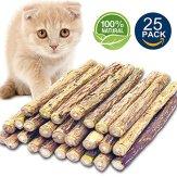 Matatabi-Cat-Catnip-Sticks-25-Pcs-or-50-pcs-Cat-Chew-Sticks-Dental-Cleaning-for-Cats-Organic-Silver-Vine-Dental-Treats-Molar-Chew-Toy