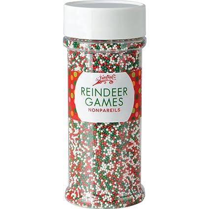 Festival Reindeer Games Holiday Nonpareils, 5.1 ounce jar