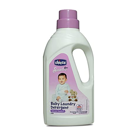 Chicco Baby Laundry Detergent, Delicate Flowers, 5X Stain & Germ Fighter, Kills 99% of Germs, Gentle on Clothes & Skin (1 L) : Amazon.in: Baby Products