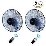 Simple Deluxe 16 Inch Adjustable Tilt, Household Oscillating Quiet for Home, Shop and Office, 90 Degree, 3 Speed Settings, ETL Certified, 1 Pack, White Wall Mount Fan