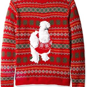 Blizzard Bay Men's Fluffy Chicken Ugly Christmas Sweater