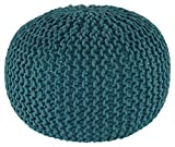 Ashley Furniture Signature Design - Nils Pouf - Comfortable Ottoman & Footrest - Teal