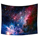 Starry Galaxy Sky Tapestry, Home 3D Cosmic Tapestry, Living Room Bedroom Decoration Tapestry, Mattress, Tablecloth (59.1'X82.7', Starry sky)