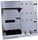 Wall Control 30-WGL-200GVB Galvanized Steel Pegboard Tool Organizer, Galv/Black