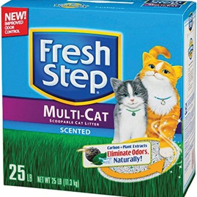 Fresh Step Multi-Cat Scented Litter with the Power of Febreze,...
