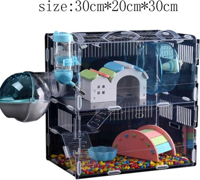 Golden hamster cage