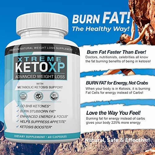 Keto XP Pills - 60 Count - BHB Ketones for Advanced Weight Loss - 1 Month Supply 6
