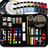 SEWING KIT, Over 130 DIY Premium Sewing Supplies, Mini sewing kit, 38 Spools of Thread - 20 Most Useful Colors & 18 Multi Colors, Extra 40 quality sewing pins, Travel, kids, Beginners,Emergency