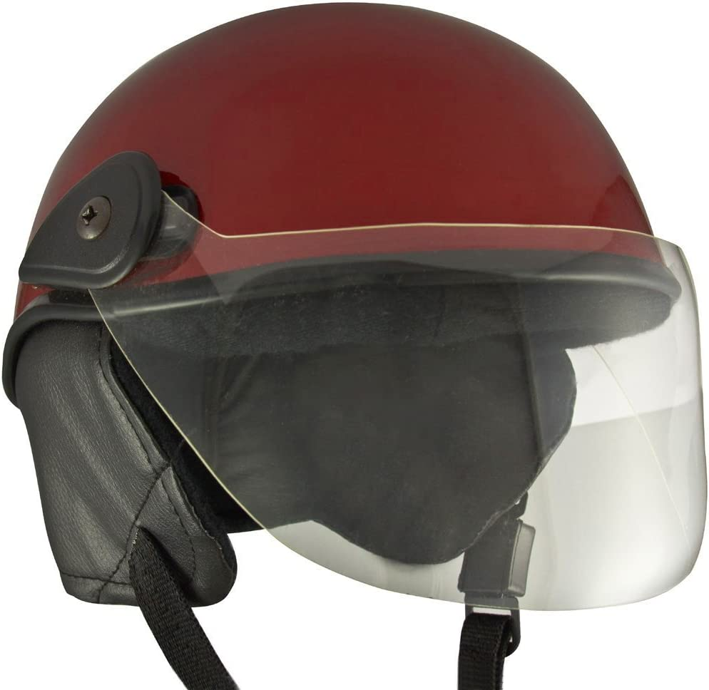 Anokhe Collections PC Shell Junior Helmets for Baby Protection and Safety for Kids (3-12 Years, Maroon Glossy)
