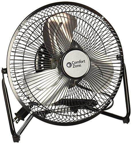 Comfort Zone Portable Floor, Table, & Office Fan | 9 Inch, High Velocity Cradle Fan