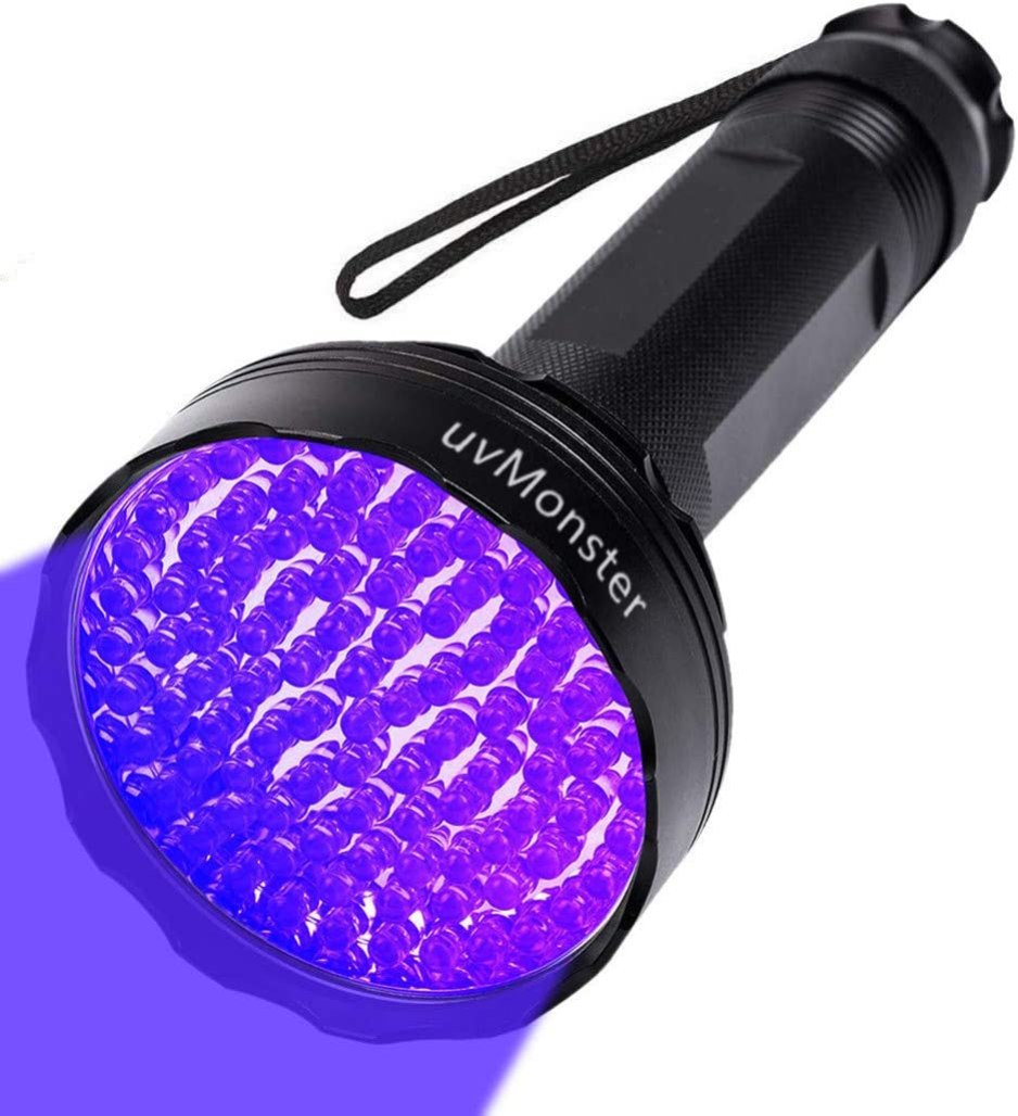 UV Blacklight Flashlight, Super Bright 100 LED Pet Dog Cat Urine Detector light Flashlight for Pet Urine Stains, UV Black light Flashlight for Bed Bugs, Scorpions Hunting