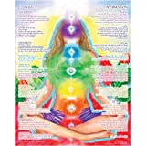16 x 20 Chakra Chart Poster - Chakra Girl - The Path of Transformation, Chakra Yoga, Spiritual Artwork, Reiki, Energy Healing Meditation Art