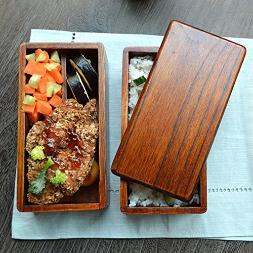 Bento Boxes Japanese Vintage Traditional Natural Square Wooden
