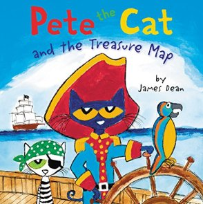 Pete the Cat and the Treasure Map by [Dean, James]