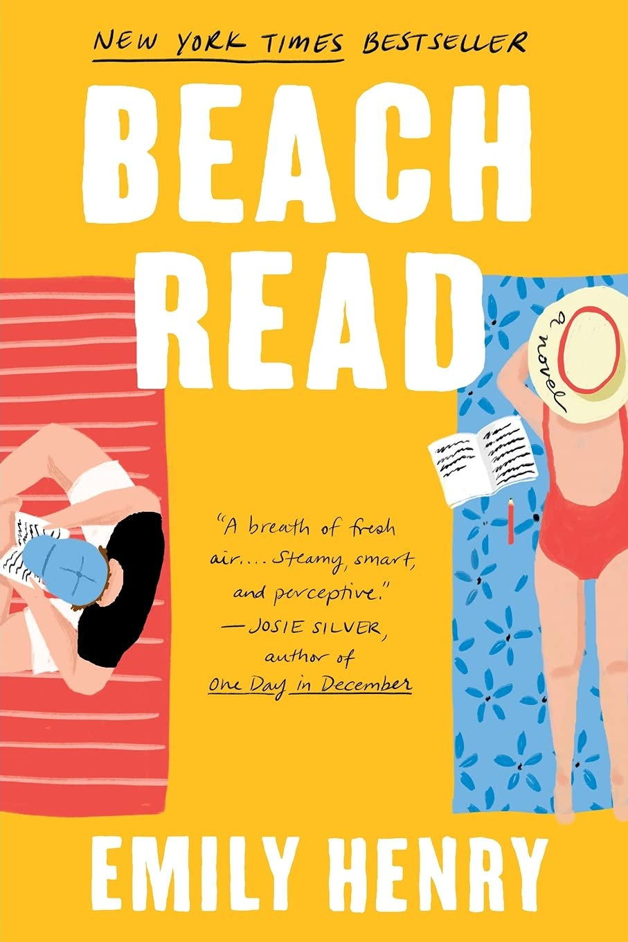 Beach Read book cover image from a June and July Reading Recap.