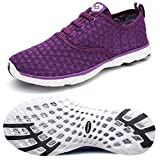 Dreamcity Women's Water Shoes Athletic Sport Lightweight Walking Shoes Purple