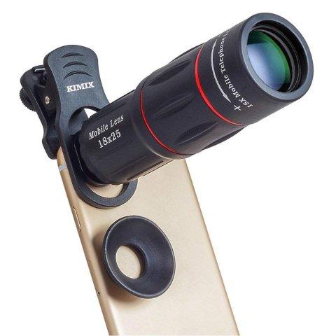 KIMIX 18倍 高画質HD 望遠レンズキットスマホカメラレンズ 望遠鏡 遠距離撮影 三脚セット iphone/Android対応