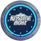 Neonetics Keystone Light Beer NEON Clock