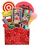 Retro-rama Kid's Valentine's Day Gift Basket of Classic Retro Toys and Games