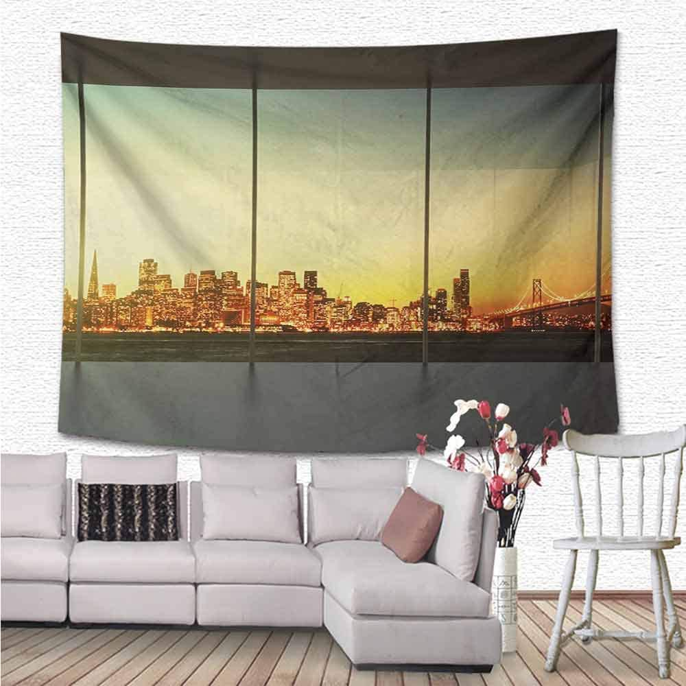Modern Tapestry Wall Hanging For Dorms Bedrooms And Living Rooms Wall Decor Wall Tapestry For Bedroom Living Room Dorm 100 Polyester And Machine Washable 63 X47 Orange Grey Green 160cmx120cm Amazon Co Uk Home