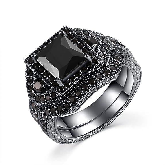 Anillos elegantes negros para bodahttps://amzn.to/2Px2804