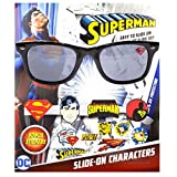 DC Comics Superman Kids Children Boys Sunglasses with 100% UV Protection Sunglasses with 3D Slide-on Characters Black