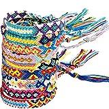 Zhanmai 10 Pieces Woven Bracelets Handmade Friendship Bracelets Multi Color Braided Bracelet for Wrist Ankle