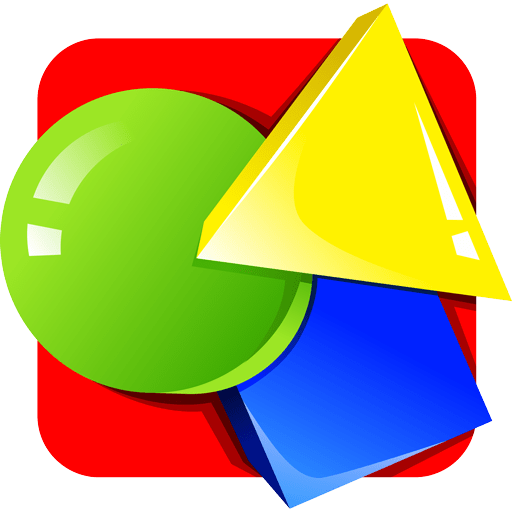 Learning shapes for kids - colourful multilingual educational game