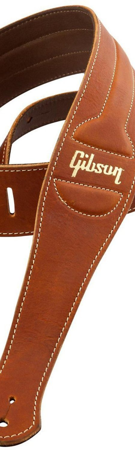 Gibson Gear ASCL-BRN The Classic Brown Leather with Suede Back Guitar Strap