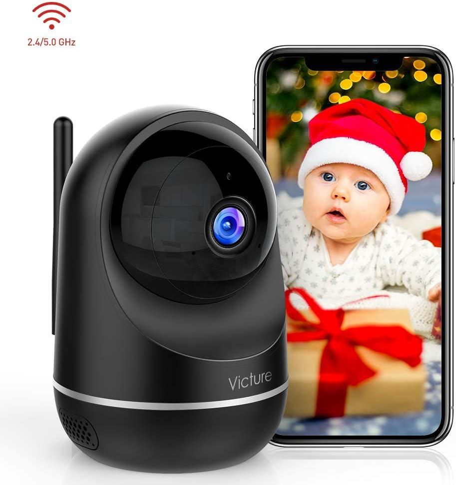 Victure 1080P Dual Band 2.4G 5G Cámara IP WiFi,Cámara de Vigilancia FHD con Visión Nocturna,Cámara de Mascota,Detección de Movimiento,Audio de 2 Vías