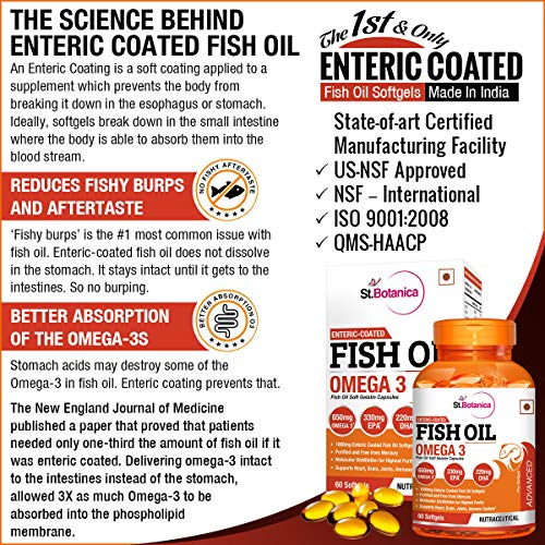 StBotanica Fish Oil 1000 mg (Double Strength) with 600 mg Omega 3-60 Softgels 4