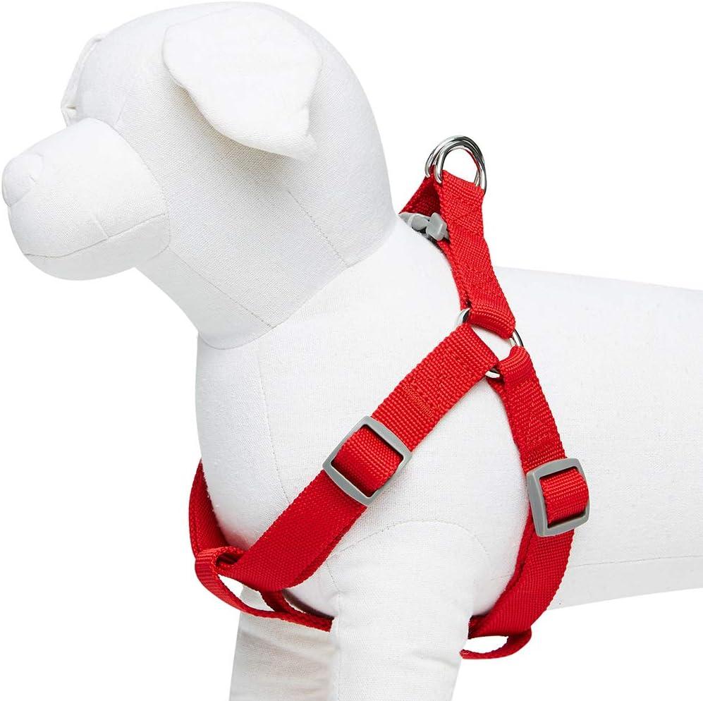 Essential Classic - Arnés para perros M, contorno del pecho 51-66 cm, arneses ajustables para perros (rojo)