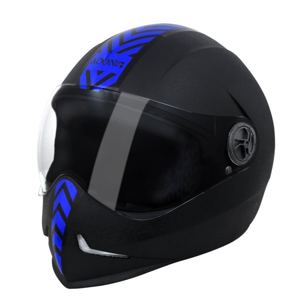 Steelbird SB-50 Adonis Dashing Black Blue with Plain Visor,600mm under Motorcycle Gadgets & Accessories