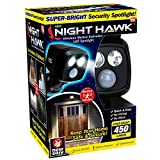 Ontel Night Hawk - Super Bright 450 Lumen LED Outdoor Indoor Security Spotlight | Advanced Motion Sensor | Adjustable Head | Easy Wireless Installation | 3000 Uses