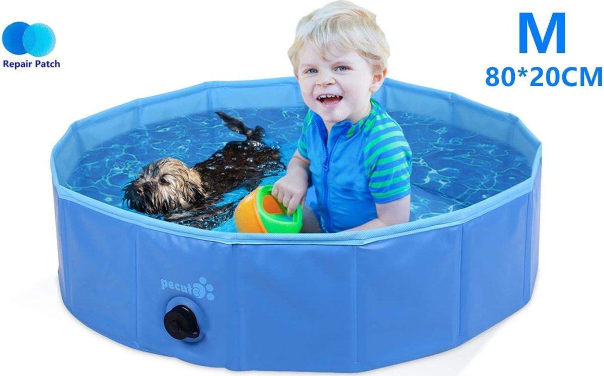 Piscina Perros y Gatos Bañera Plegable PVC Antideslizante y Resistente al Desgaste