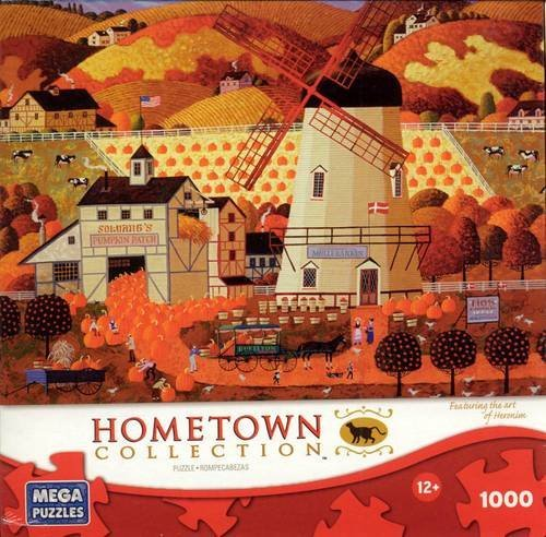 HOMETOWN COLLECTION Featuring the Art of Heronim 'PUMPKIN PICKING' 1000 Piece Jigsaw Puzzle