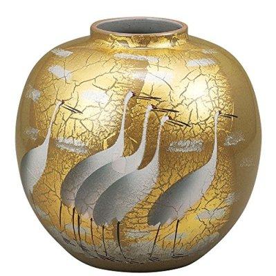 Kutani Yaki(ware) Vase Gold Leaf