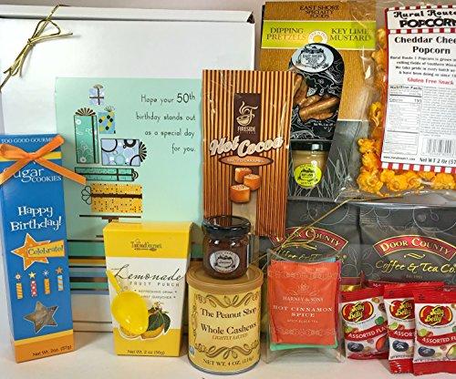 Happy 50th Birthday Gift Box Basket Send